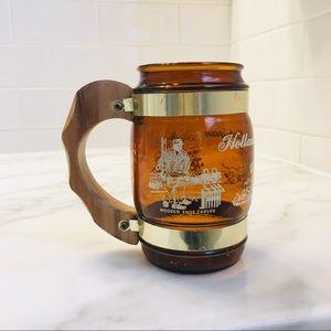 Vintage Holland Michigan Amber Glass Souvenir Cup